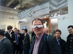 CeBit: 3D-Brille